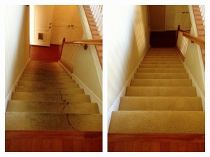 Artesia carpet cleaning stairs before and after