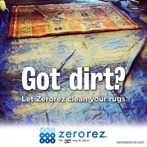 Los Angeles rug cleaning flyer