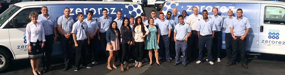 The ZeroRez SoCal team - dedicated to providing the best carpet cleaning services