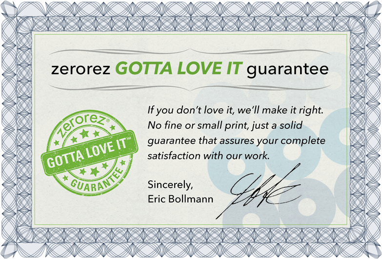 Gotta Love It Guarantee Certificate