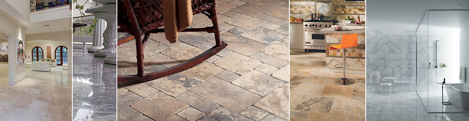 Natural Stone Cleaning Collage