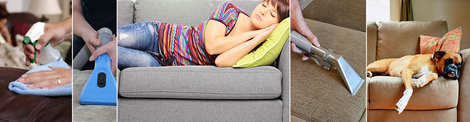 upholstery cleaning collage