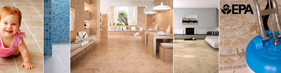 collage of tile and grout cleaning service